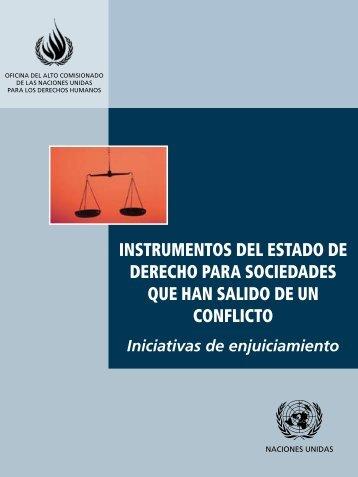instrumentos del estado de derecho para sociedades que han ...