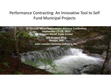 Performance Contracting - Water Innovations Alliance