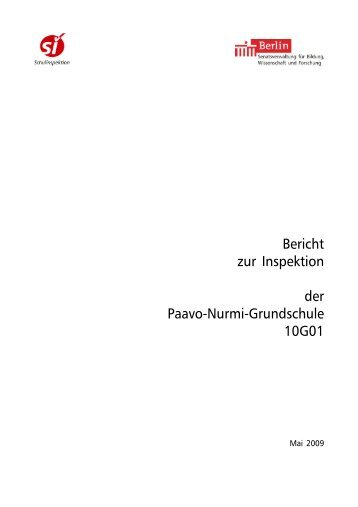 Bericht zur Inspektion der Schule.pdf [471 KB] - Paavo-Nurmi ...
