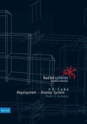 U-Cube Regalsystem · Display System - Creation C. Bias