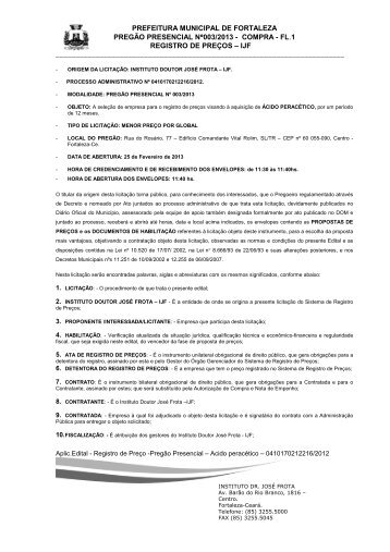 edital nº 003/2013 - TCM-CE