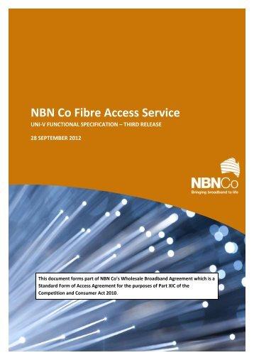 NBN Fibre Access Service - UNI-V Functional Specification - NBN Co