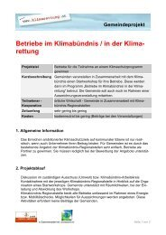 Betriebe im Klimabündnis / in der Klima - Klimarettung