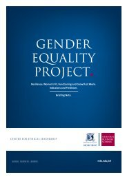 GENDER EQUALITY PROJECT - Melbourne Business School