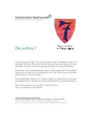 Die verflixte 7 - Schulen in Regensburg