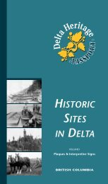 HISTORIC SITES IN DELTA DeltaHeritage - The Corporation of Delta