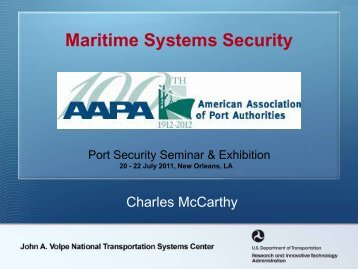 Maritime Systems Security