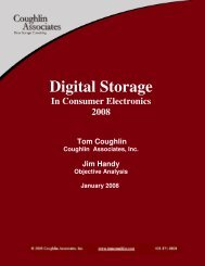 Digital Storage in Consumer Electronics 2008 - Coughlin Associates