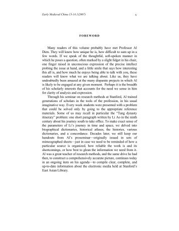 Foreword - Department of Languages, Literatures, and Cultures