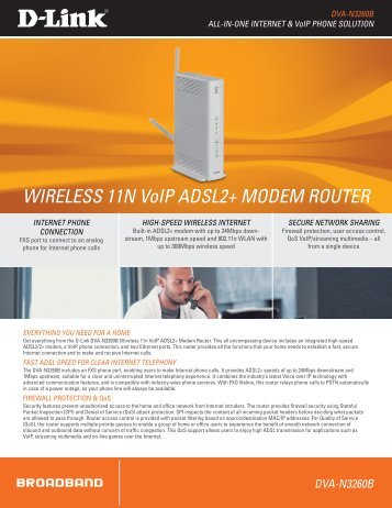 WIRELESS 11N Voip ADSL2+ MODEM ROUTER