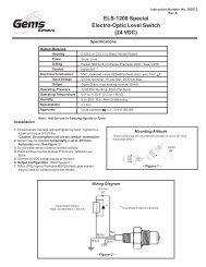 SPST N.C Gems PS71-60-4MGZ-B-EL18 Series PS71 General Purpose Mini Pressure Switch 2500-5000 psi Range 1//4 BSPM Steel Fitting 1//2 MNPT Conduit with 18 Flying Leads Circuit Pack of 10