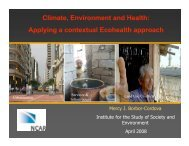Climate, Environment and Health: Applying a contextual Ecohealth ...