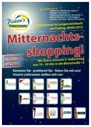 in Langensteinbach am Freitag, 06.09.2013 Wir feiern ... - pistons.de