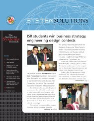 Summer 2003 - Institute for Systems Research - University of Maryland
