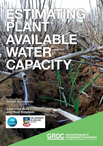 Estimating Plant Availiable Water Capacity - Grains Research ...