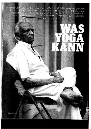 "Geo: ""Was Yoga kann"" - Inhouseyoga.ch"