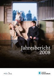 Jahresbericht 2008 - Kantonalbanken