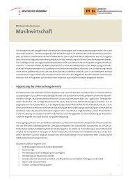 Basisttext – Musikwirtschaft in Deutschland