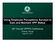 VPPPA Workshop - National Safety Council