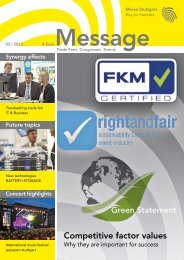 Message issue 2/2013 (PDF | 9 MB) - Messe Stuttgart