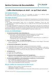 Service Commun de Documentation L'offre électronique en droit : ce ...