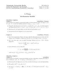 Blatt 8 - Institut für Mathematik