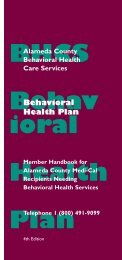 English - Alameda County Behavioral Health