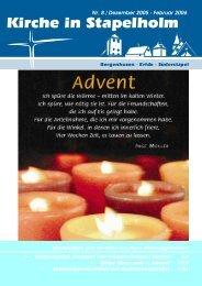 Dezember 2005 - Februar 2006 - in der Kirchengemeinde ...