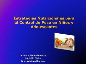 estrategias nutricionales para el control de peso en niños y ... - Aveso