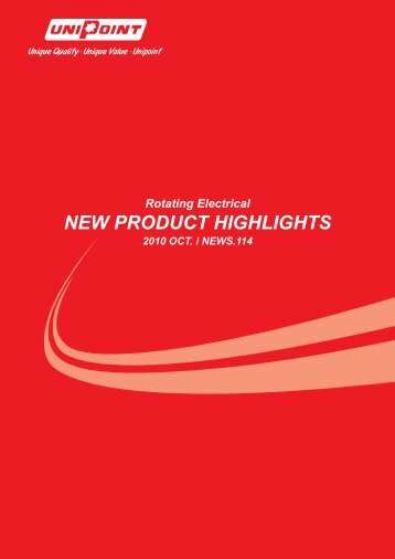 NEW PRODUCT HIGHLIGHTS - Unipoint