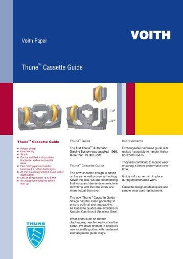 ThuneTM Cassette Guide - Voith