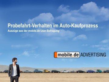 Probefahrt-Verhalten im Auto-Kaufprozess - mobile.de Advertising