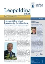 Leopoldina aktuell 04|2013