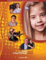 Plan stratégique 2005-2008 - Secrétariat à la condition féminine ...