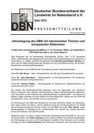 Deutscher Bundesverband der Landwirte im Nebenberuf eV Seit 1972