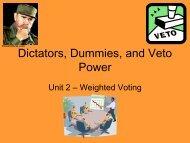 Dictators, Dummies, and Veto Power