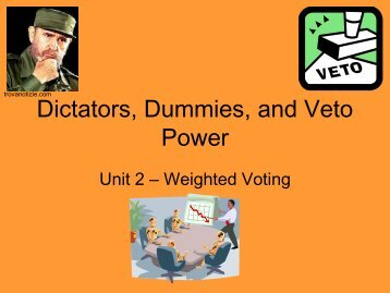 Dictators, Dummies, and Veto Power