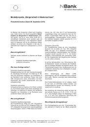 """Modellprojekte """"Bürgerarbeit in Niedersachsen"""""""