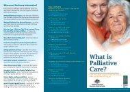 What is Palliative careFA - Palliative Care Australia