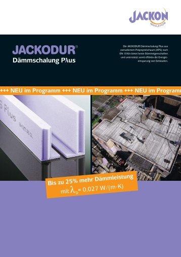 JACKODUR Dämmschalung Plus Produktblatt - Jackon Insulation