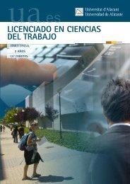 LICENCIADO EN CIENCIAS DEL TRABAJO - Universidad de Alicante