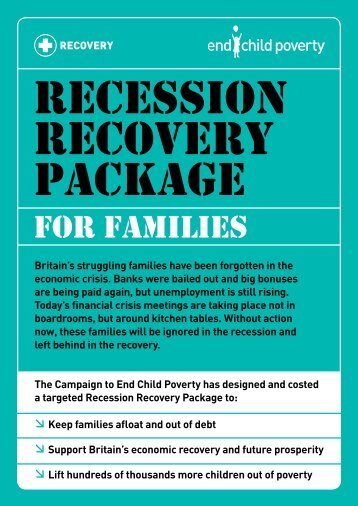 Recession Recovery Package for Families - Unicef UK