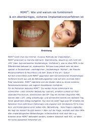 MIMI®: Wie und warum sie funktioniert & ein ... - Champions-Implants