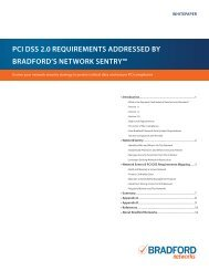 PCI 2.0 Requirements Addressed By Bradford's Network ... - Wavelink