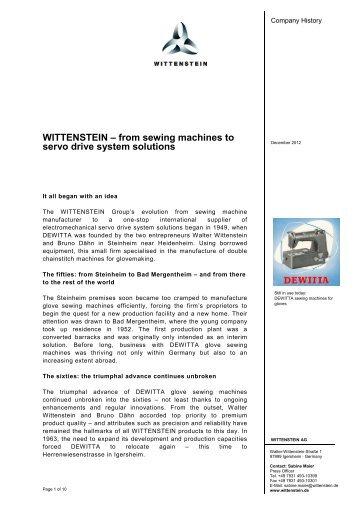 Download (PDF) - Wittenstein AG