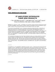 ZT AMPLIFIERS INTRODUCES THREE NEW PRODUCTS
