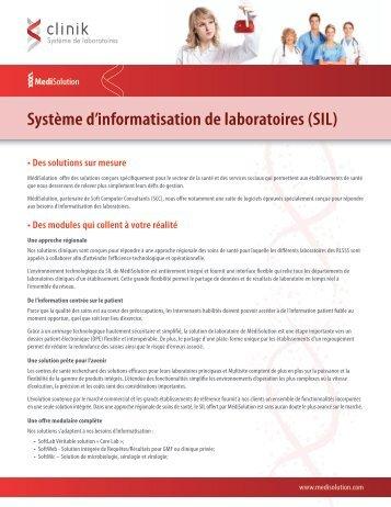 Systeme d'informatisation de laboratoires (SIL) - MediSolution