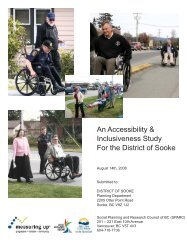 An Accessibility & Inclusiveness Study For the District of Sooke