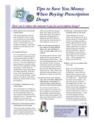 Tips to Save You Money When Buying Prescription Drugs - Board of ...
