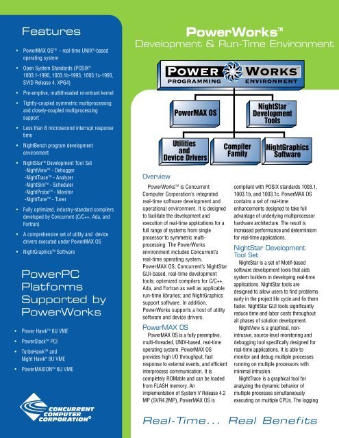 Powerworkstm - Concurrent Computer Corporation